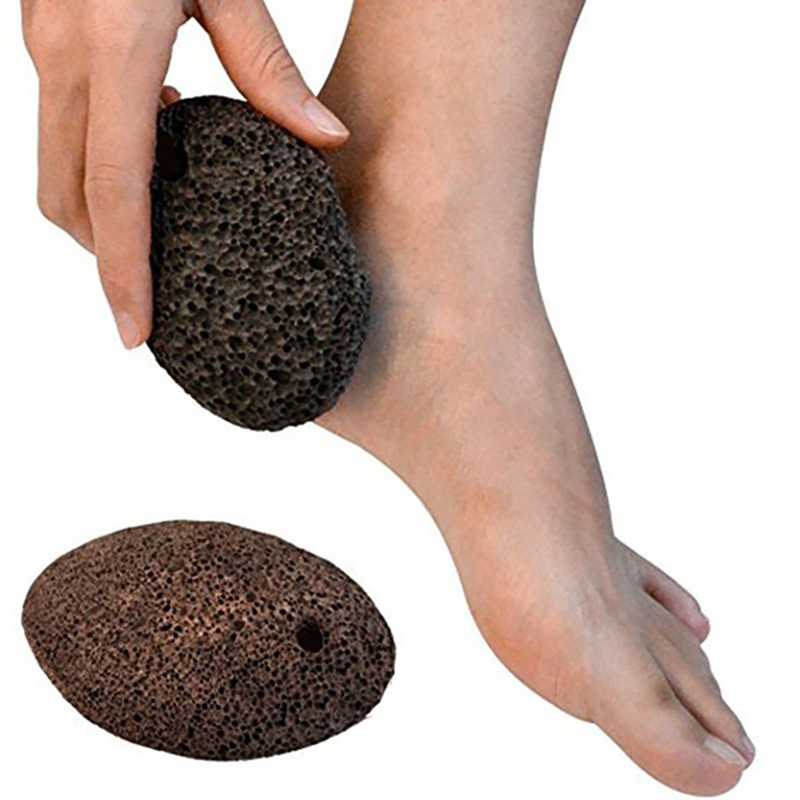 1PC Foot Stone Exfoliating Feet Care Natural Lava Stone Grill Fish Tank Foot Massage Pumice Callus Remover Scrubber Tool