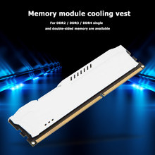 Classic Colors RAM Cooler Radiator Simple Enduring Cooling Heat Sink for DDR2 DDR3 DDR4 Heat Dissipation Pad(China)