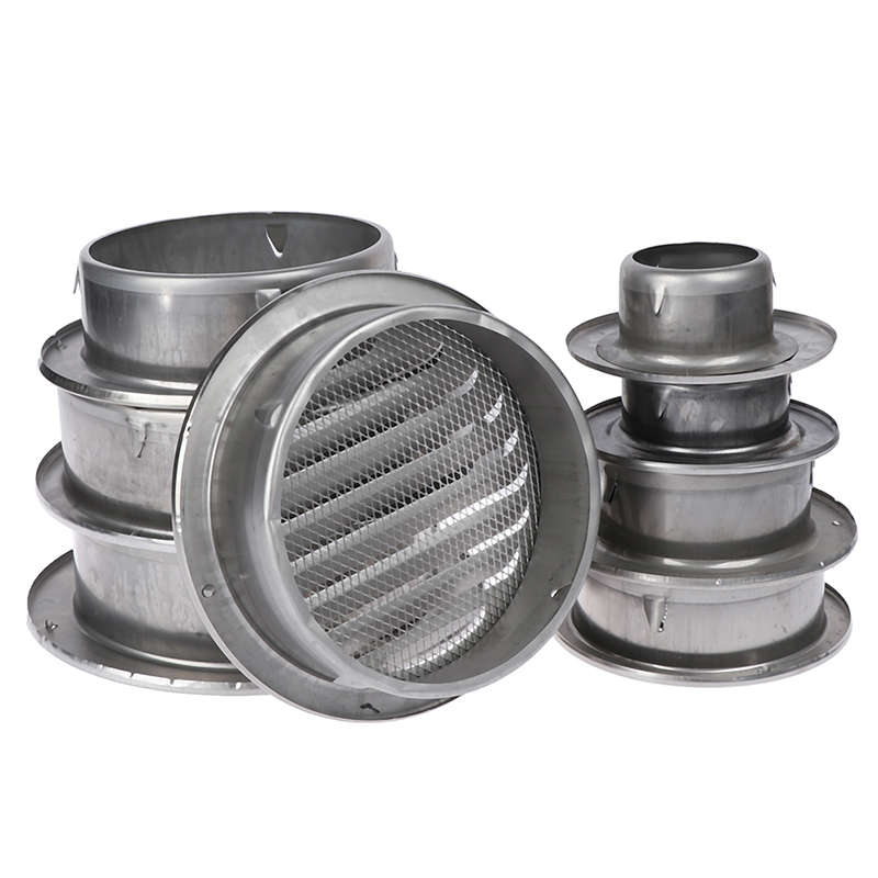 70/80/100/120/150/160/180/200MM Stainless Steel Exterior Wall Air Vent Grille Round Ducting Ventilation Grilles
