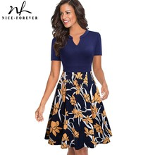 Pink Dresses Floral-Printed Spring Nice-Forever Casual A-Line Btya036 Swing Flare
