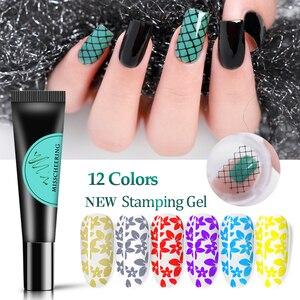 8ml Nail Stamping Gel Polish Colorful Print Oil UV Gel Lacquer Soak Off Varnish for Transfer Stamper Plate DIY Nail Art Tools