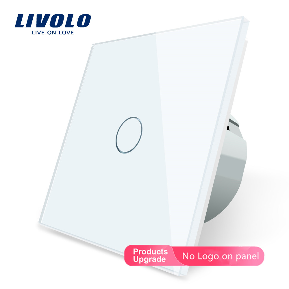 Livolo Wall Light Touch Switch With Crystal Glass Panel,colorful switch,led indicator light,universal wall switchesSwitches   -