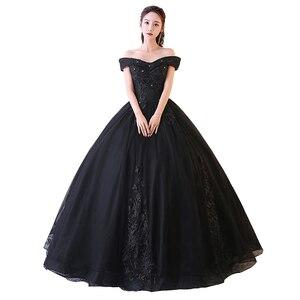 Image 5 - Rot Rosa Quinceanera Kleider Weg Von Der Schulter Appliques Perlen Vestidos De Gala Largos Prom Kleid Puffy Masquerade Ball Kleider