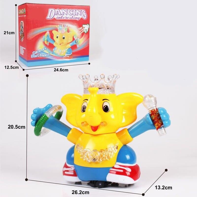 Universal Wheel Light Music Electric Elephant Children Electric Cartoon Toy Animals Men And Women Gift