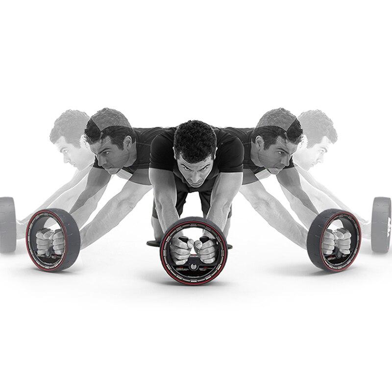 Ejercicio de rodillo de rueda de músculo abdominal para interiores, rodillos de Ab silenciosos, entrenador, equipo de entrenamiento, gimnasio, construcción de cuerpo en casa, caliente - 2