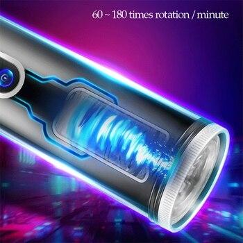 Fully Automatic Telescopic Male Masturbator Piston Rotation Masturbator for Man Heating Sex Machine Adult Sex Toys for Men