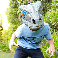 Jurassic World 2 Sound Effects Dinosaur Mask Party Realistic Mask Cosplay Props Halloween Costumes Toy For Kids Adults