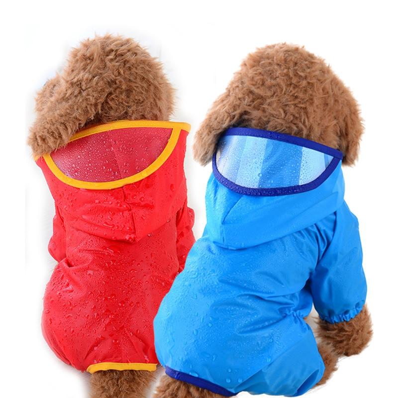 Дождевик для домашних животных летняя Толстовка водонепроницаемая одежда Плюшевый комбинезон дышащая безопасность-дождевик щенок-костюм розовый котенок-костюм для улицы