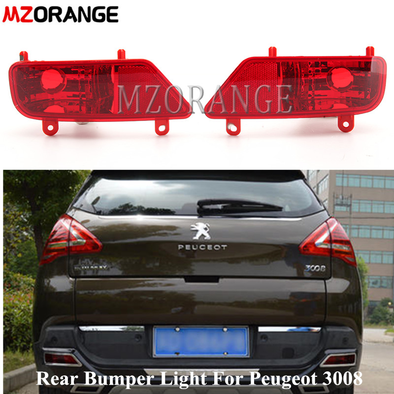 2X Peugeot 3008 2009-2015 Car Rear Fog Light Lamp Cover Chrome  Modification Kit