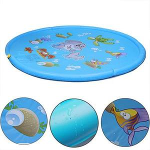 Image 2 - 170cm Inflatable Spray Water Cushion Summer Kids Play Water Mat Lawn Games Pad Sprinkler Play Toys Outdoor Tub Swiming Pool