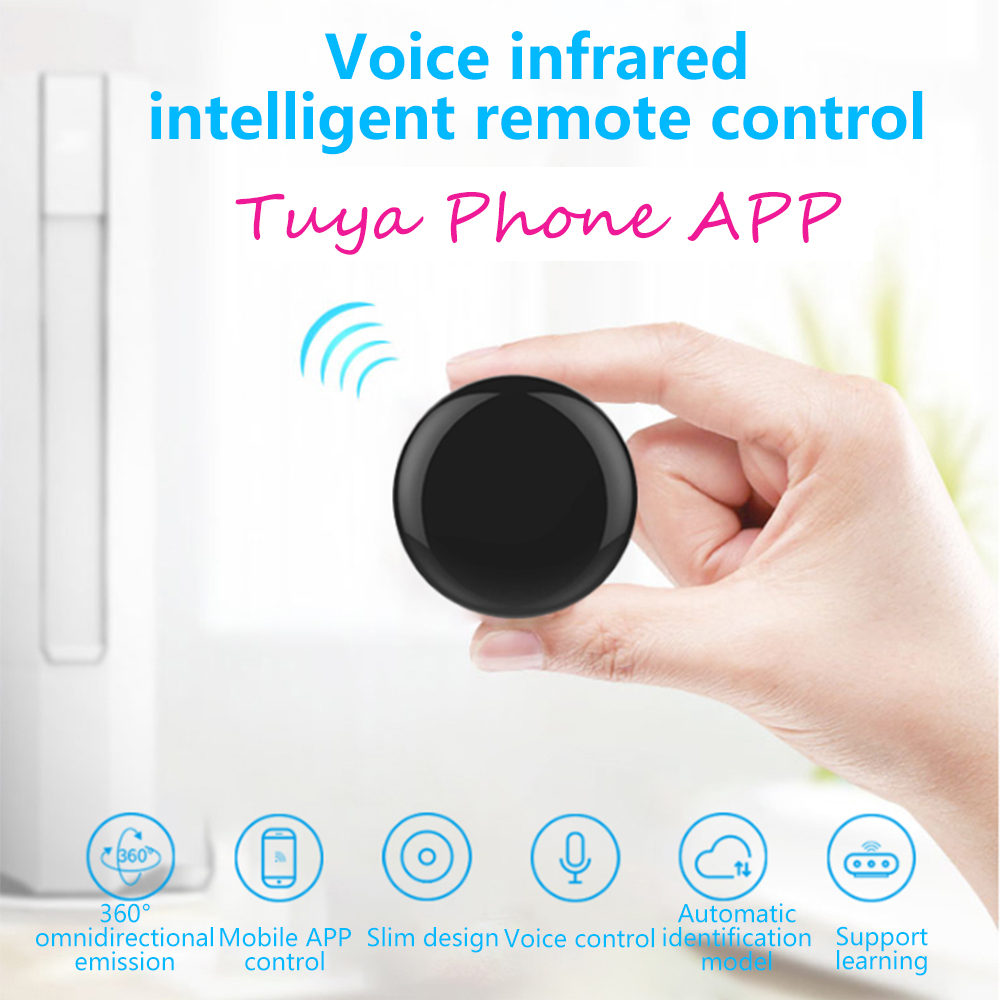 Alexa Tuya Remote Control Wifi-IR Google Home Wireless TV Universal Remote Control Smart Life Voice Learning Remote Control IPTV image