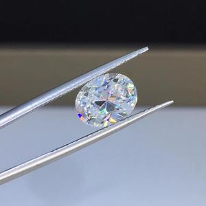 Image 1 - Poetry Of Jew Store Oval Moissanite2.00ct D VVS barestone custom Moissanitering Pendants for naked diamond