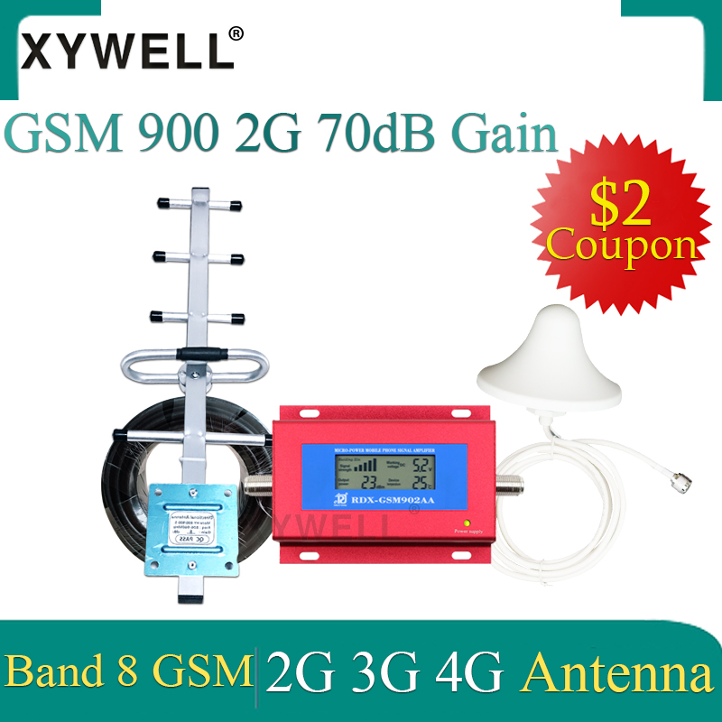 GSM Cellular Amplifier 900mhz 3G Celular MOBILE PHONE Signal Repeater Booster 2G 3G 900MHz UMTS GSM Amplifier+Yagi Antenna