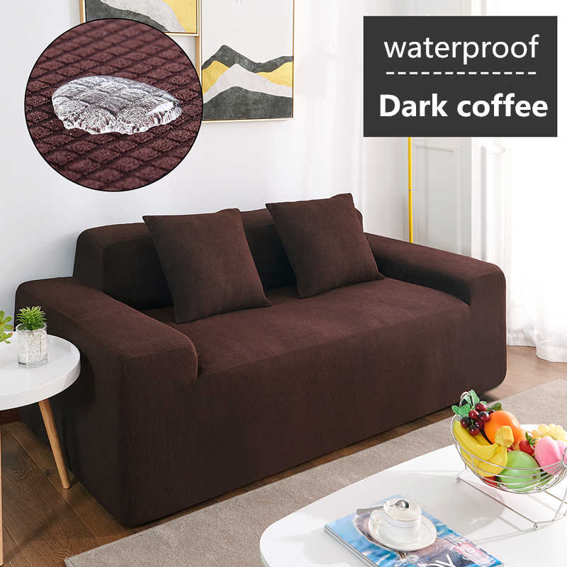 Cubierta de sofá Polar impermeable Universal funda de sofá funda elástica de Color sólido antideslizante