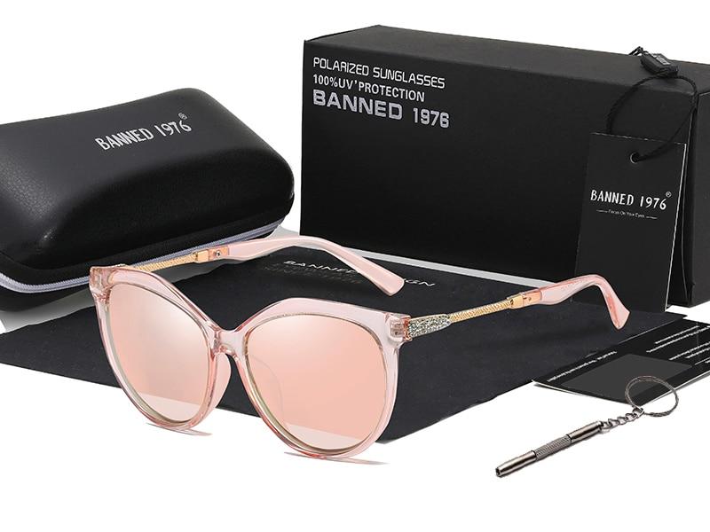 H9c1a7e440fbc45368c3adcf2a05488a62 2020 New Luxury HD Polarized Women Sunglasses Fashion Round Ladies Vintage Brand Design cat eye woman Female Sun Glasses oculos