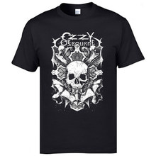 Hip Hop Heavy Metal Brand Men Tops Tshirt Ozzyosbourne Skull Geek T-Shirts Father Day Music Tops & Tees Fashion Print Casual Tee(China)