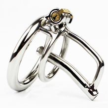 Stainless Steel Male Chastity Device with Catheter Small Cock Cage Metal Penis Lock Bdsm Sex Toy for Men Belt