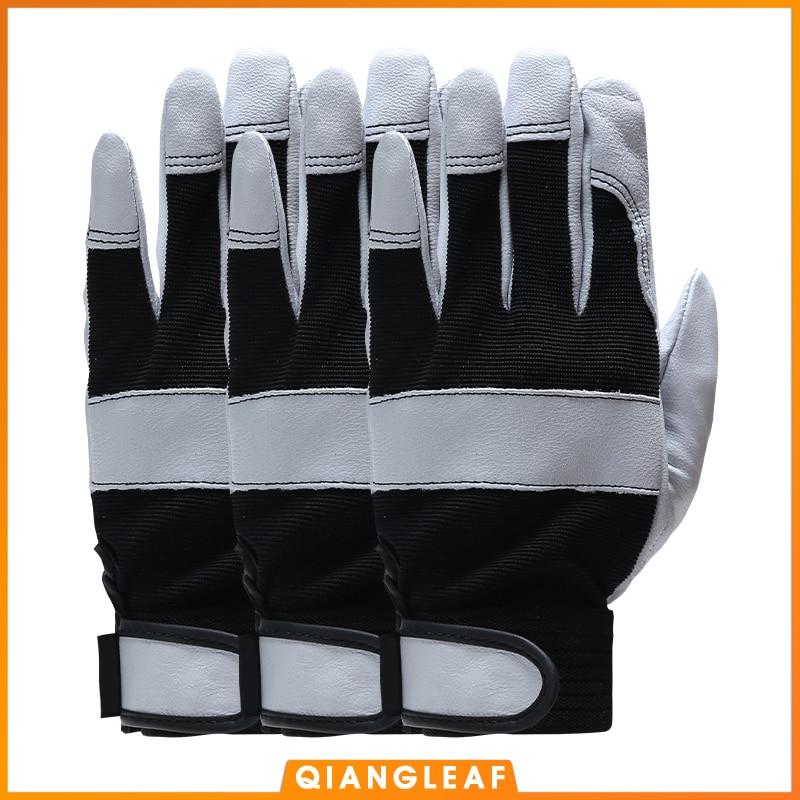 QIANGLEAF 3PCS Men's Work Safety Gloves Ultrathin Microfiber Ottoman Working Safety Gardening Riding Mitten Free Shipping 3031W
