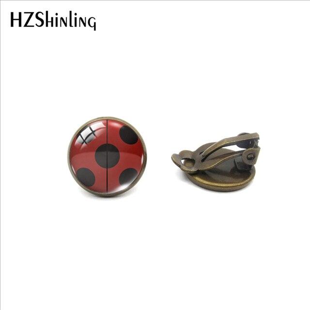 Earrings Cute Ladybug Jewelry No Pierced Earrings Gifts for Girls 4