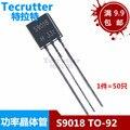100 шт./лот Оригинальный Новый триодный транзистор S9018 9018 TO-92