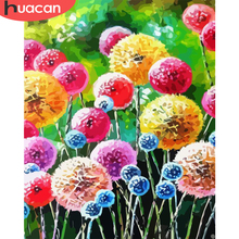 Art Number-Kits Diy-Pictures Dandelion Huacan-Paint Canvas Drawing-On Landscape Gift