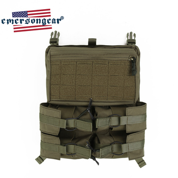 Emersongear Tactical Banger BackPack Back Panel 420 Tactical Vest Bungee Panel Drop Pouch Hunting LXB Style Pouch For 420 Vest mesh panel iridescence backpack