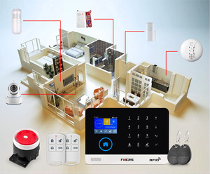 Image 5 - 2.4 بوصة TFT شاشة WIFI GSM اللاسلكية الرئيسية نظام إنذار أمان كاشف حركة APP التحكم الشمسية صفارة الإنذار للكشف عن الدخان عدة