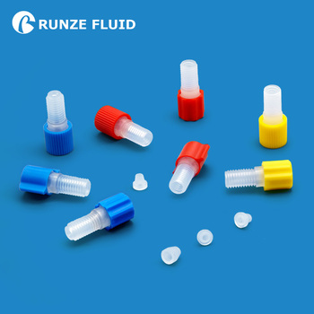 цены Fingertight Pretorque Flangeless Fittings 0.11-0.15N/m Blue nut with 1.6/2.0/2.5/3.0/3.175/3.2mm Ferrule for Microfluidic System
