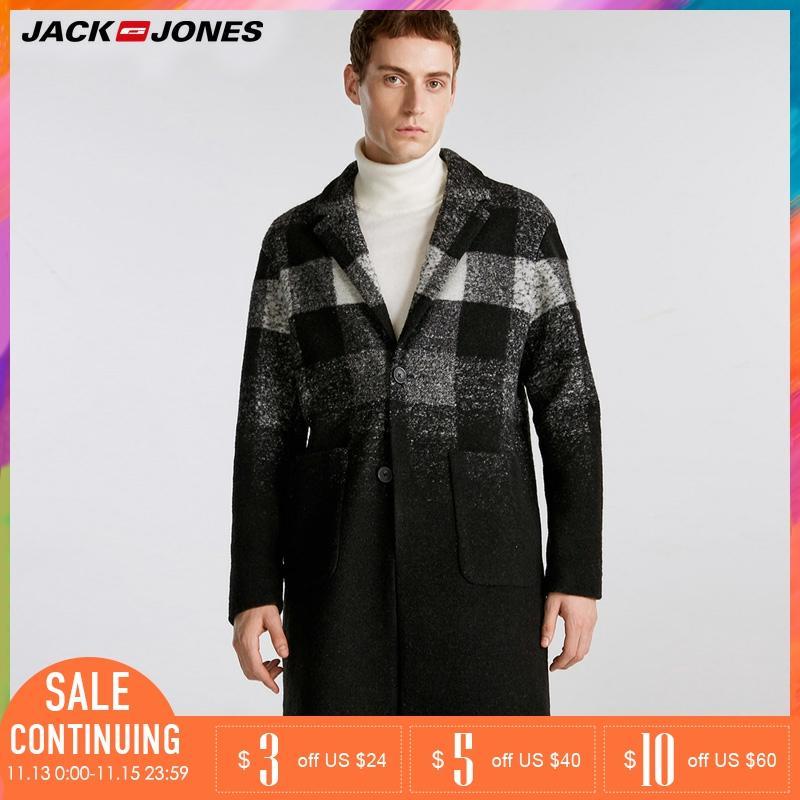 Jack Jones Autumn Winter New Men's Wool-blend Long Woolen Coat | 218327513