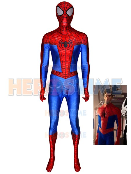 Spiderman Into the Spider Verse Peter Parker Costume Spandex 3D Print Spiderman Zentai Suit Halloween Costume for Adult Kids image
