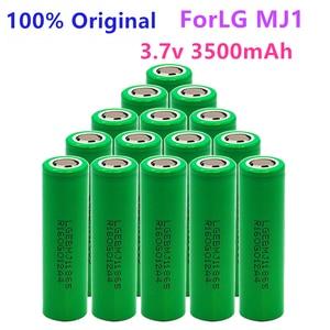 Image 4 - 1 10PCS 100% מקורי MJ1 3.7 v 3500 mah 18650 ליתיום נטענת סוללה עבור פנס סוללות עבור LG MJ1 3500 mah סוללה