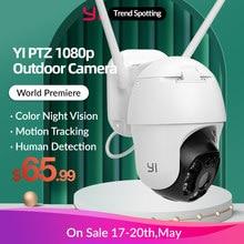 YI 1080P PTZ Wifi Outdoor Camera Digital Zoom AI Human Auto Tracking Wireless IP Camera Audio IR Night Vision Security CCTV Cam