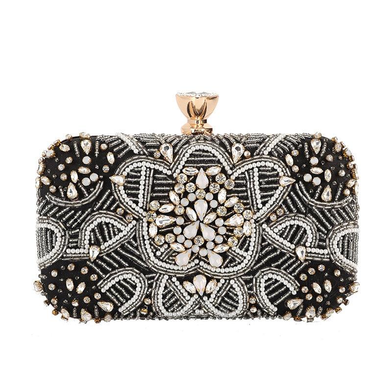 Tanpell New Dazzling Rhinestone Clutch Evening Bag Rectangle Elegant Luxury Wedding Party Handbag Evening Bag