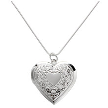 28 mm Silver Plated Medallion Pendant Necklace Heart Necklace New(China)