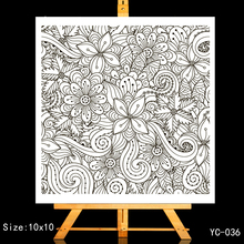 ZhuoAng Decorative pattern Clear Stamps/Card Making Holiday decorations For  scrapbooking Transparent stamps 10*10cm