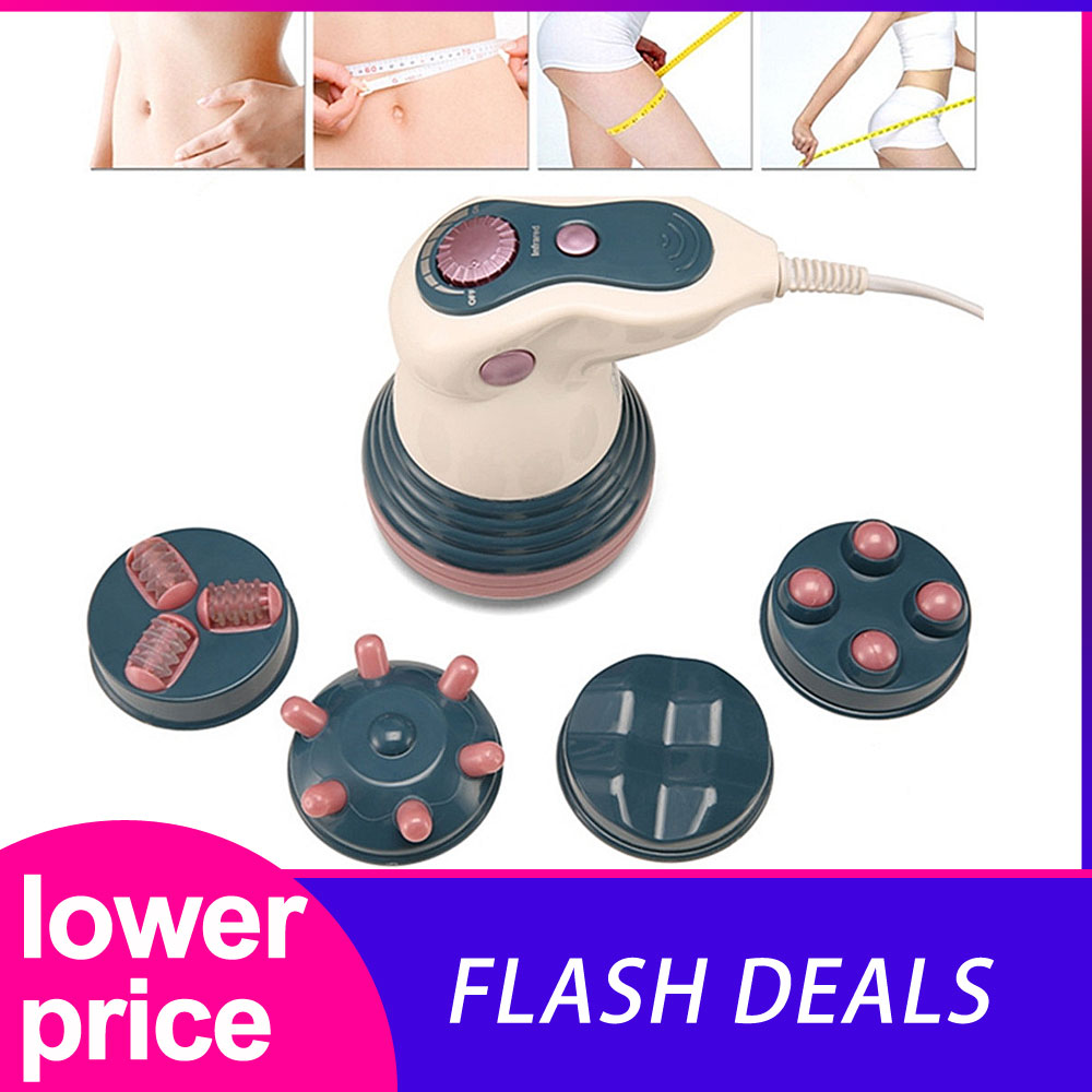 Electric Vibration Infrared Full Body Weight Loss Anti Cellulite Slimming Kneading Face Body Lifting Roller Machine