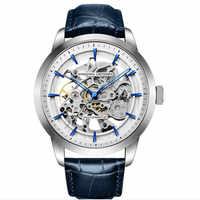 DIDUN uomini di orologi di lusso in acciaio orologio al quarzo di affari degli uomini del cronografo della vigilanza di sport Orologi Da Polso 30M impermeabile