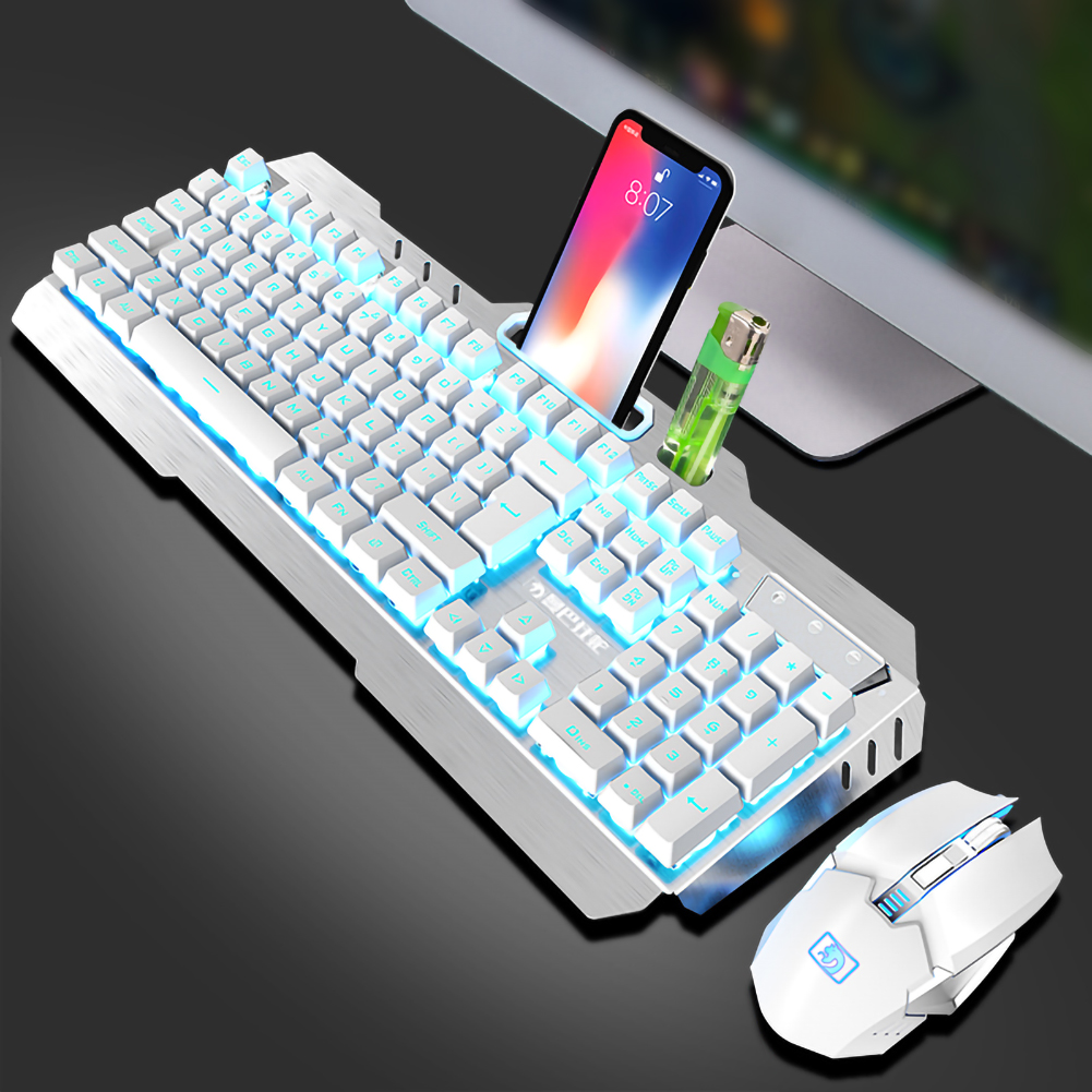 Wireless Keyboard And Mouse Charging Shining Game Keyboard Mouse Set For Notebook Laptop Desktop Office Supplies Phone Universal