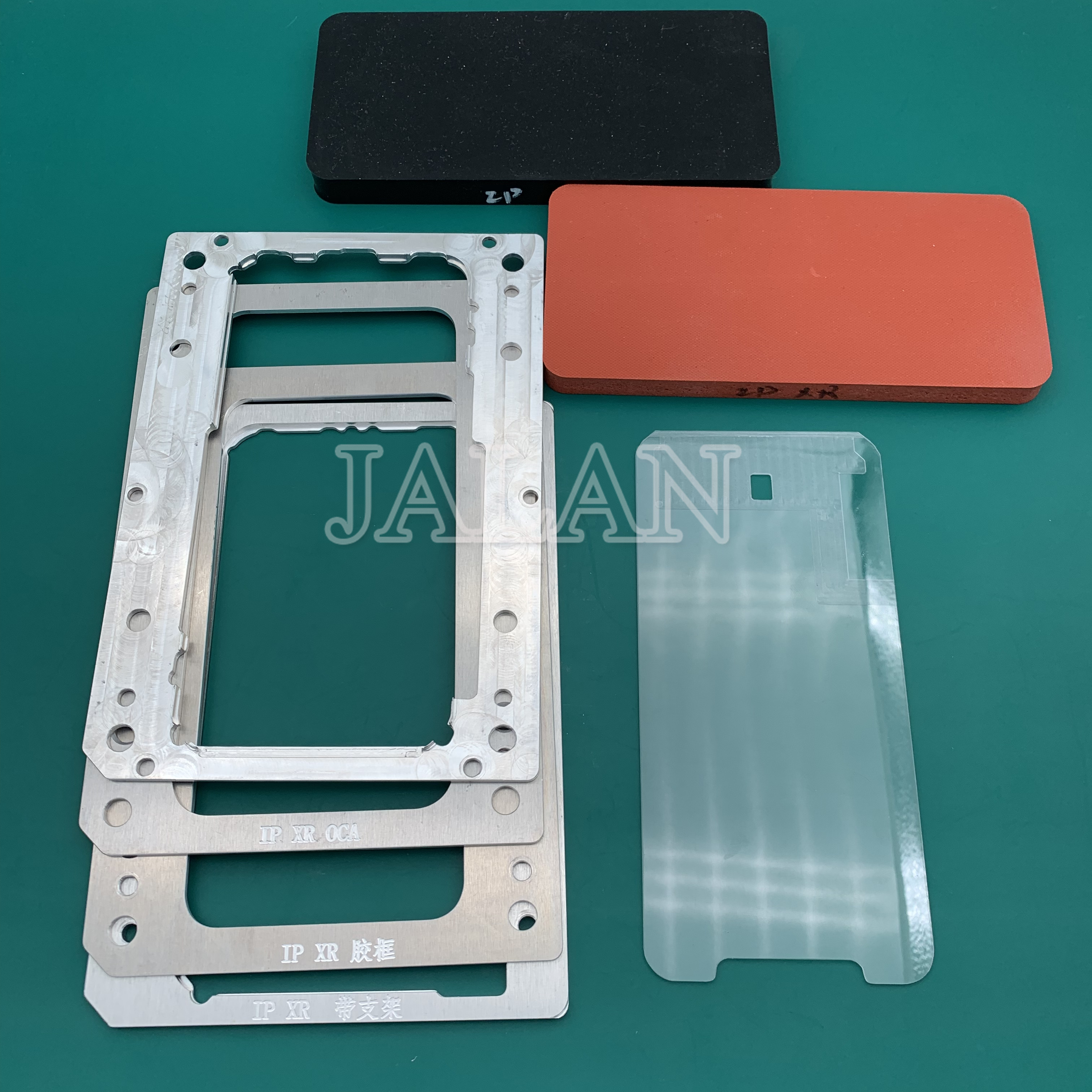 YMJ laminating mold for iphone XR XS Max lcd glass frame OCA touch screen laminating mold with rubber for 11 5.8 6.1 6.5 inch