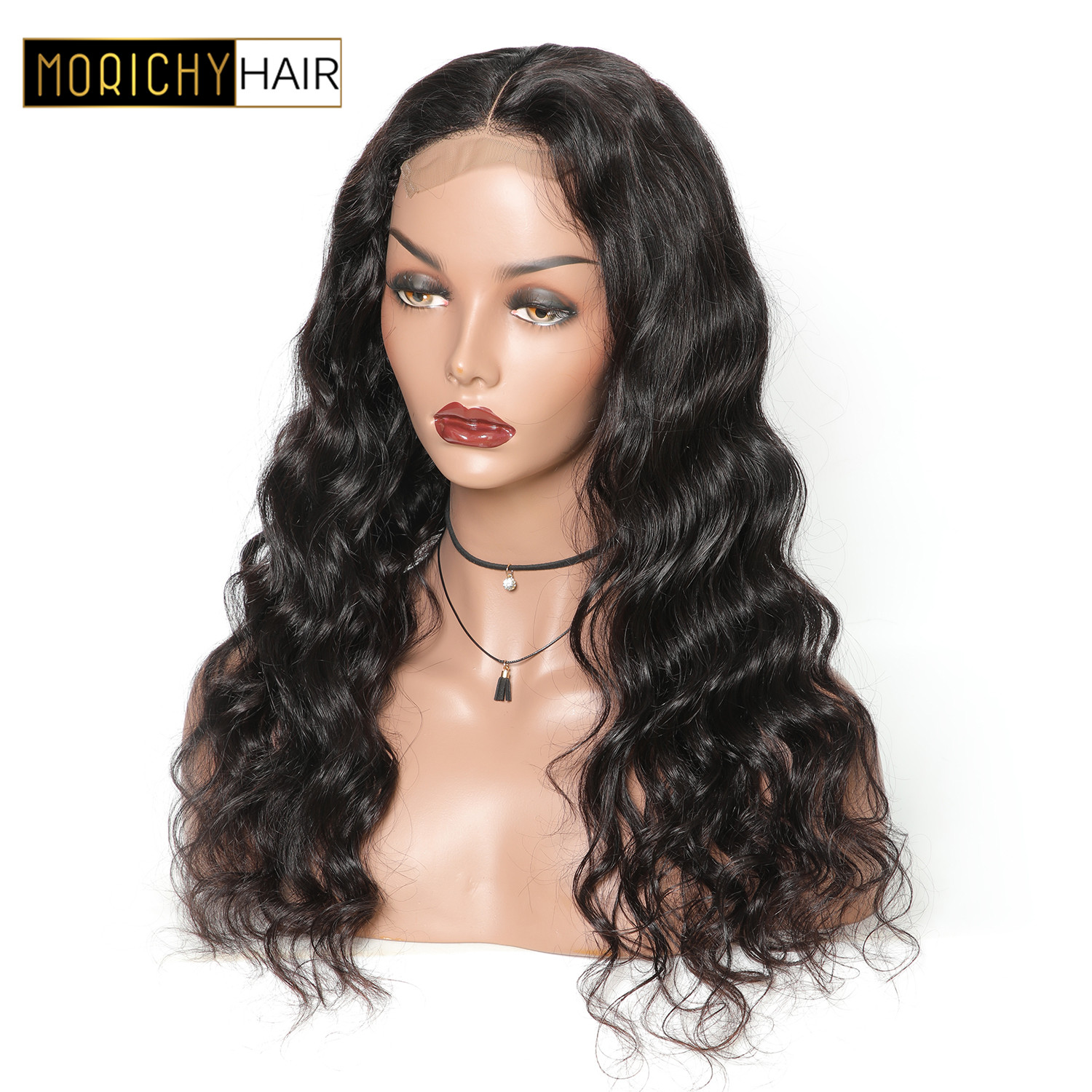 Body Wave Closure Wigs For Black Women Brazilian 4X4 Lace Closure Wig Non Remy Human Hair Wig 150% Density Pre Plucked Baby Hair