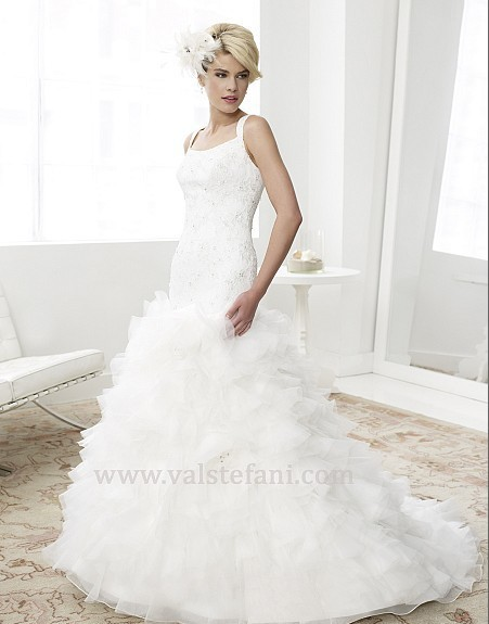 2016 Hot Sale Scoop Free Shipping New Fashion Woman Dress Designer Elegant Beaded A-line Sweetheat Wedding Dresses Bridal Gowns