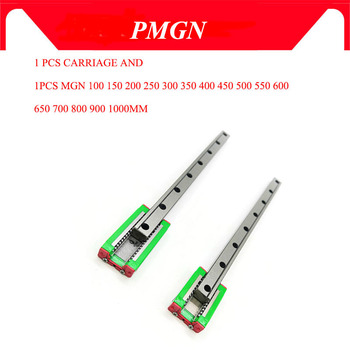 12mm Linear Guide MGN12 L=100 200 300 350 400 450 500 550 600 700 800 mm linear rail way + MGN12C or MGN12H Long linear carriage free shipping miniature linear rail for 3pcs mgn12 400mm linear guide 3pcs mgn12c carriage for cnc router xyz table