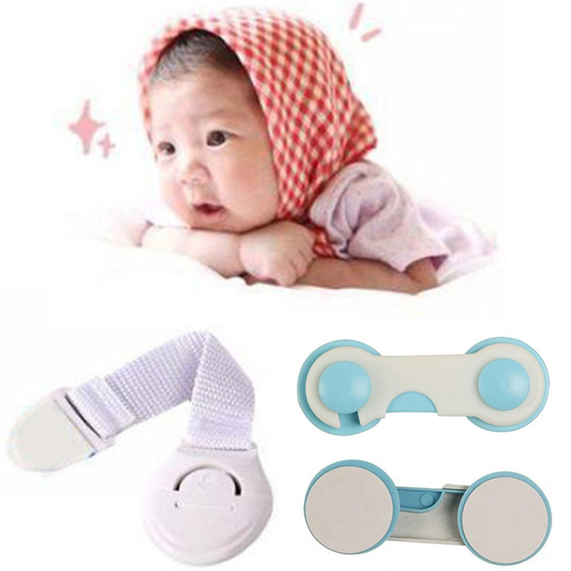 5Pcs/Lot Baby Safety Locks Plastic Kids Children Protection Care Locks Cupboard Drawer Door Cabinet Security Protector