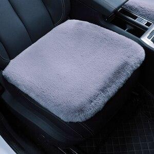 Image 2 - KAWOSEN housses de siège de voiture en fausse fourrure de lapin, housses de siège en peluche, accessoire dintérieur de voiture, de style, accessoire dintérieur de voiture, 3 pièces/ensemble FFSC03
