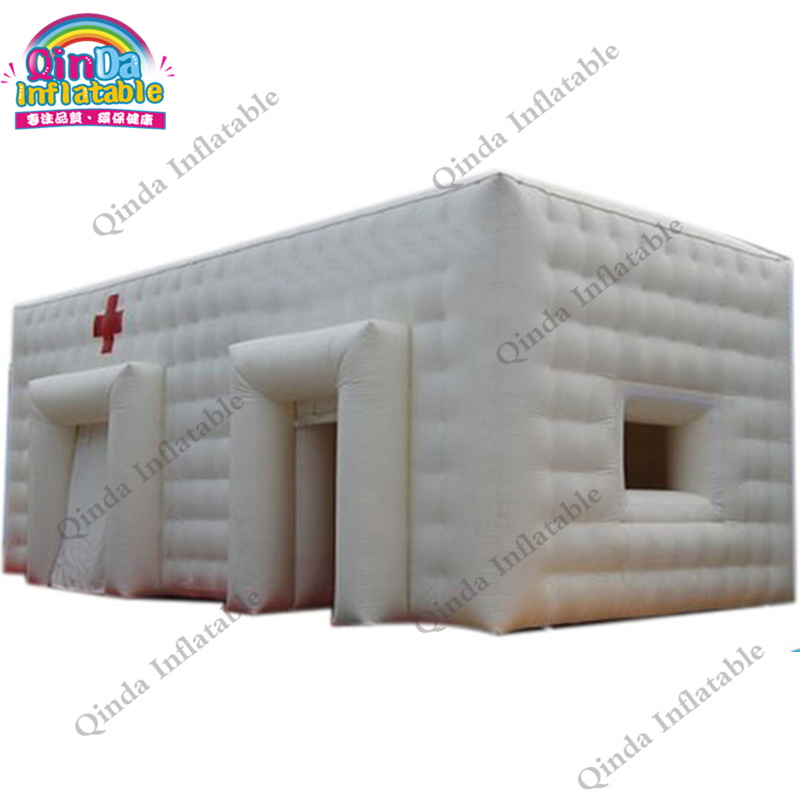 Custom Pvc Inflatable Sterilise Medical Tent Inflatable Disinfection Cube Tent For Hospital