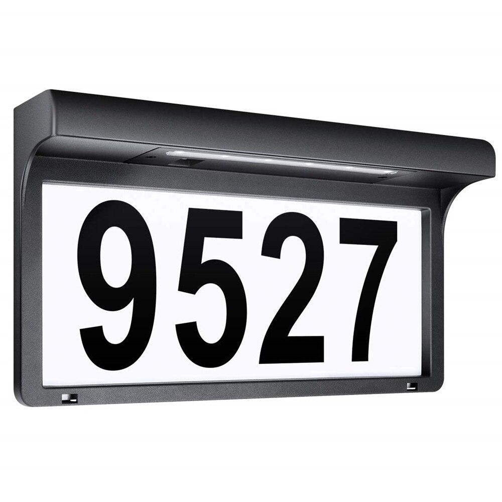 Numéro de maison solaire lumière extérieure adresse signe lumière hôtel maison porte adresse Plaque lampe étanche jardin porte décor applique