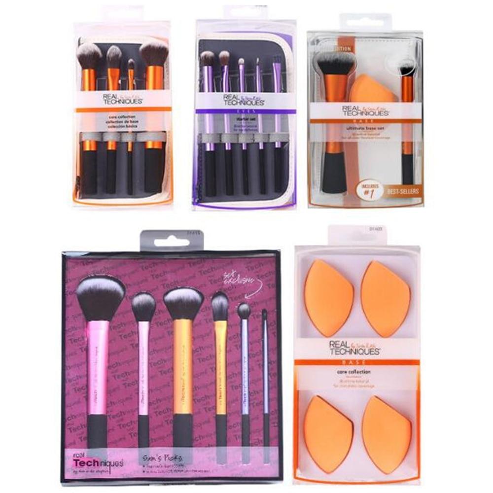 Make Up Brushs Makeup Sponge Maquillage Real Technique Makeup Brushs Powder Loose Box Belt Foundation Brush Free Shipping 1406