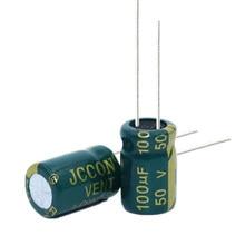 Capacidade eletrolítica de alumínio 50v100uf 100uf50v da baixa resistência de alta frequência de 20 pces volume: 8x12