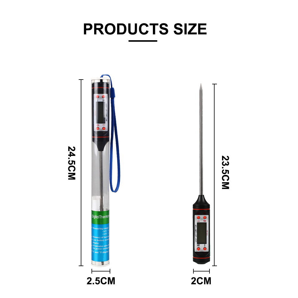 Car Vehicle Air Outlet Needle Type LCD Digital Thermometer Gauge Check