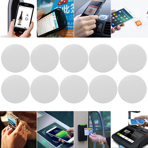 5PCs Ntag 215 NFC Tag Mini Round Key Tag Keychain Sample Patrol Universal RFID 504 bytes Mini NFC Phone Chip Electronic Card Tag